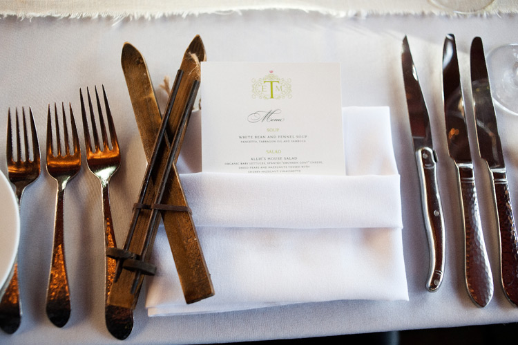 place setting with skis_brinton