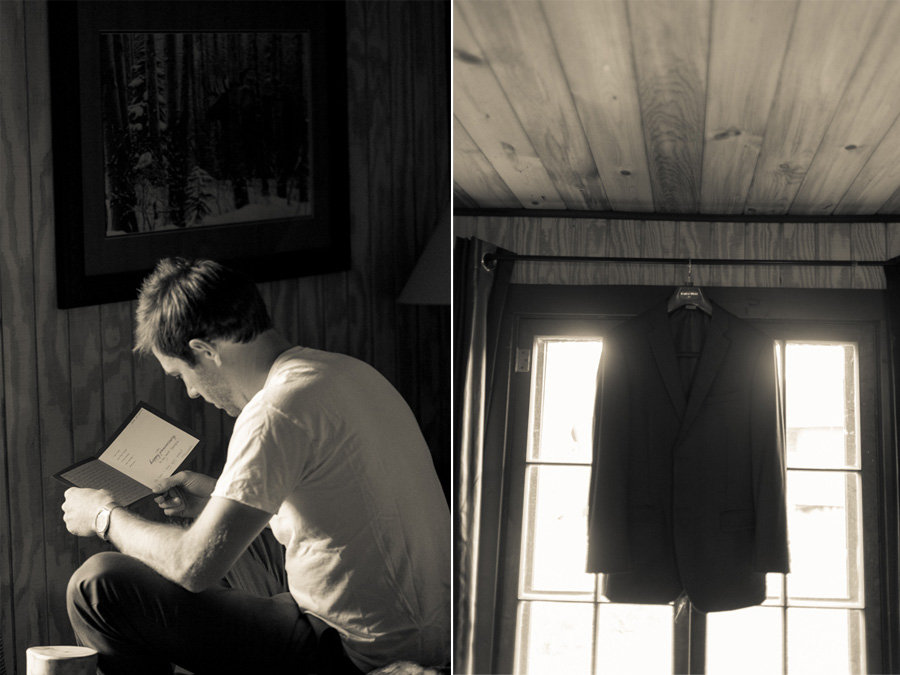 Parker reading a letter