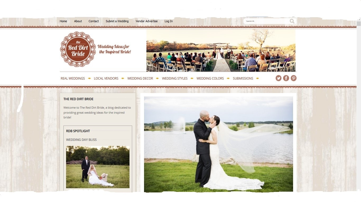 Red Dirt Bride blog feature