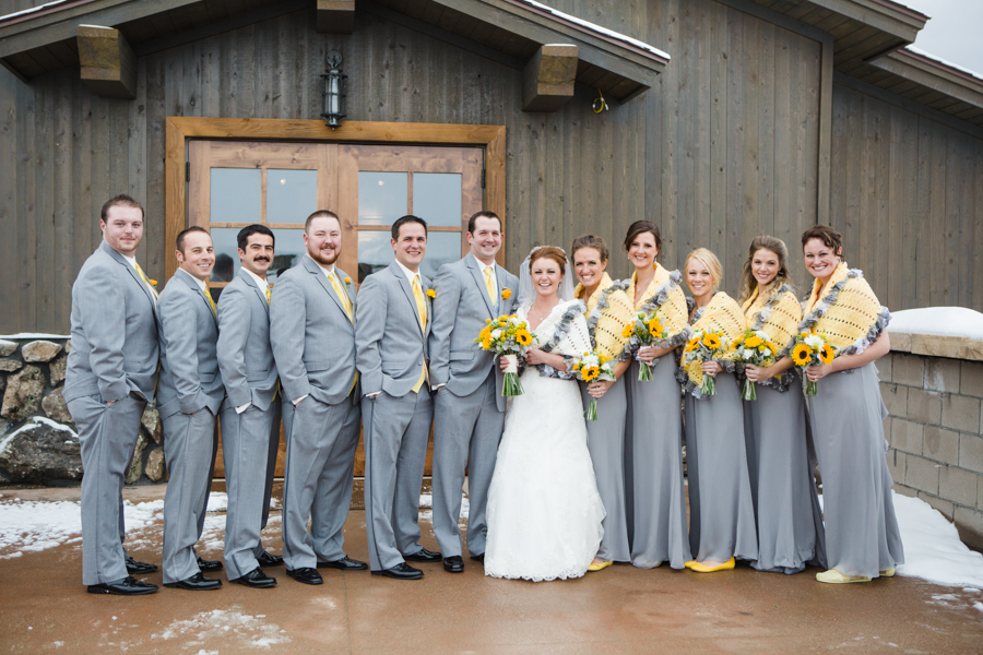 Sunflowers Puppies A Winter Wedding At Devils Thumb Ranch Ja