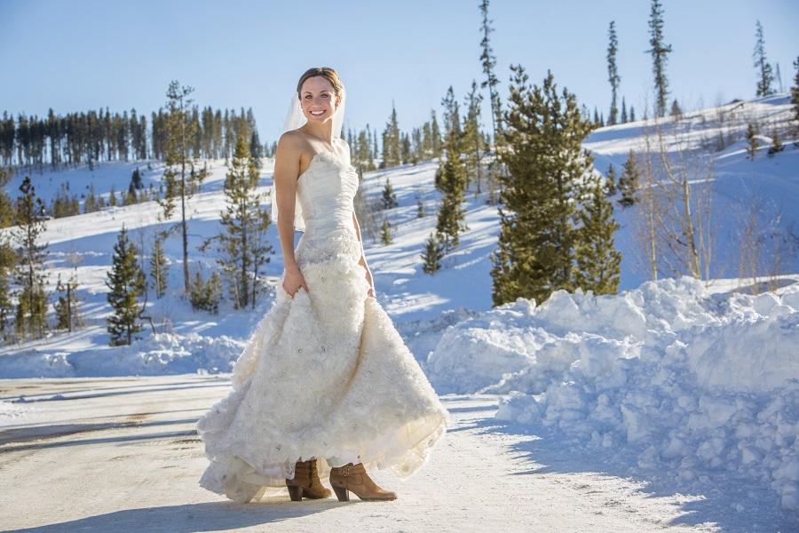 Winter bride, David Lynn Photography