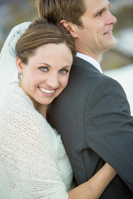 Bride with white shawl, David Lynn Photography