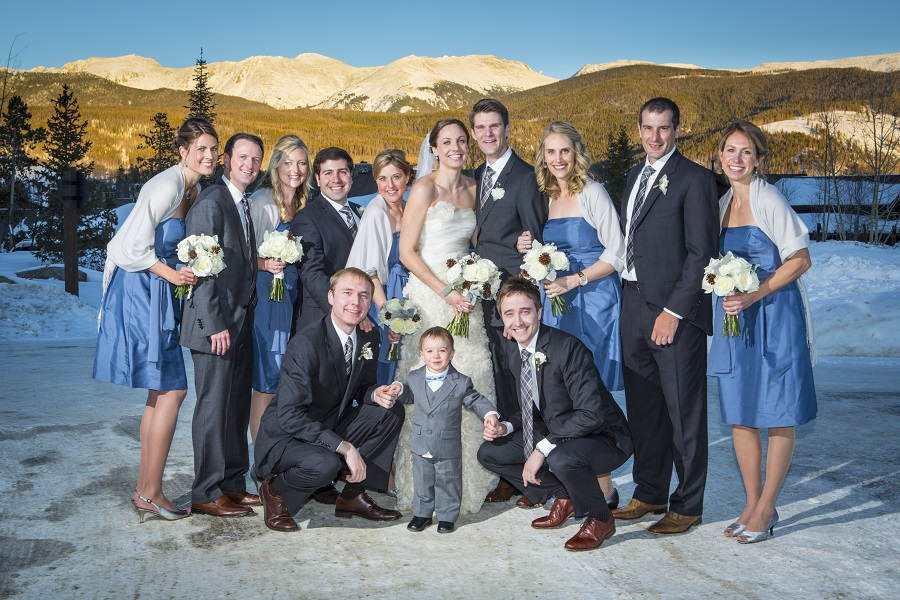 Bridal Party in the mountains, David Lynn Photography