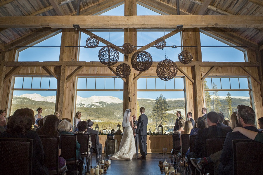 High Lonesome Barn ceremony at Devil's Thumb Ranch, David Lynn Photography