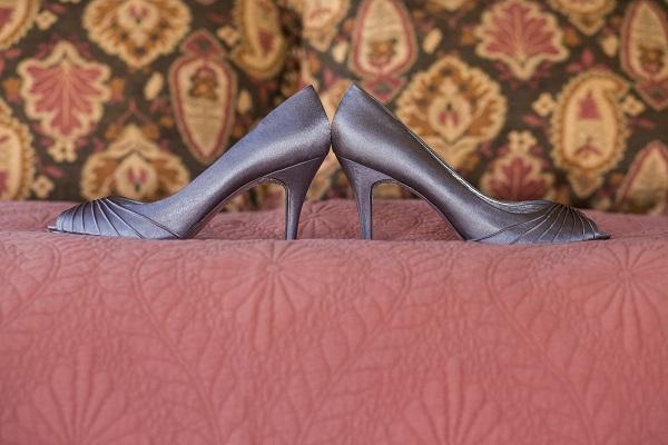 Silver wedding shoes, David Lynn Photography