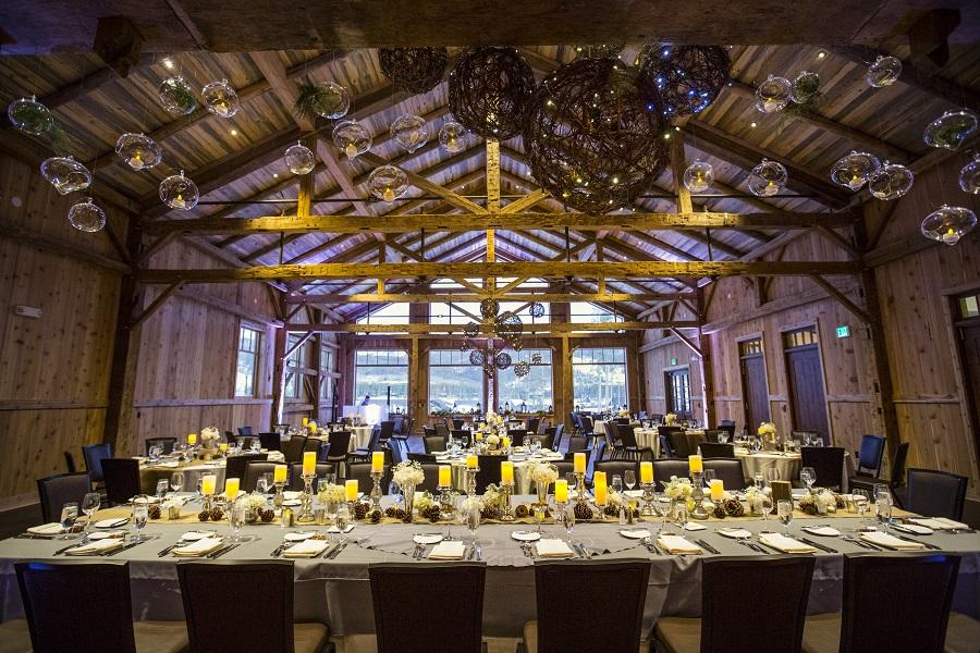 Wedding reception at Devil's Thumb Ranch, David Lynn Photography