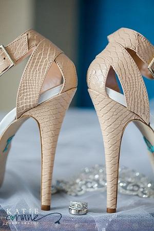 Ivory wedding heels