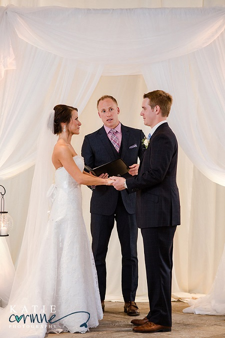 Ceremony with white drape from Pure Energy