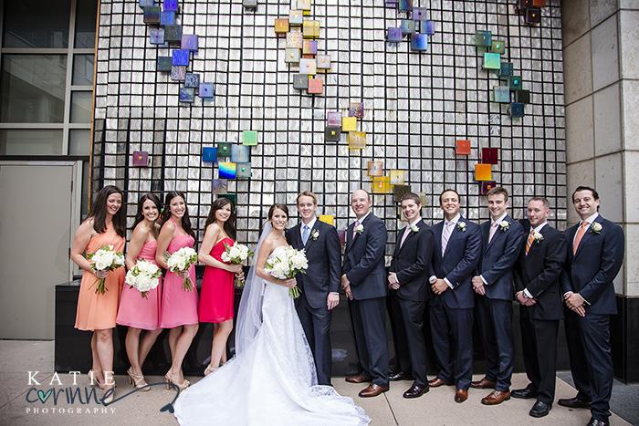 Bridal party portrait at JW Marriott, Denver