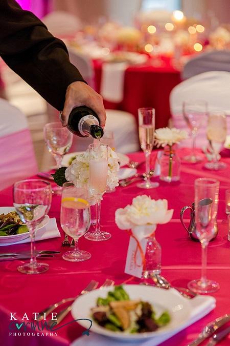 Champagne pour at JW Marriott, Denver
