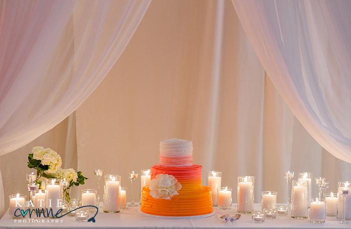 Sunset inspired cake from Mulberries Cake Shop