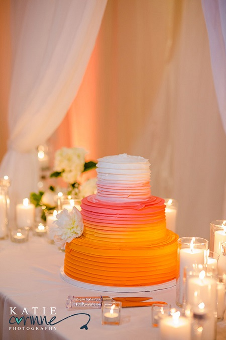 Ombre cake from Mulberries Cake Shop