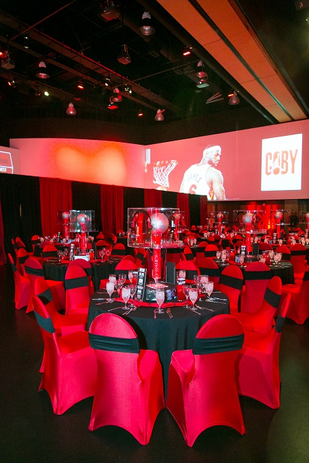 Red & Black basketball bar mitzvah at Infinity Park, Jared Wilson Photography