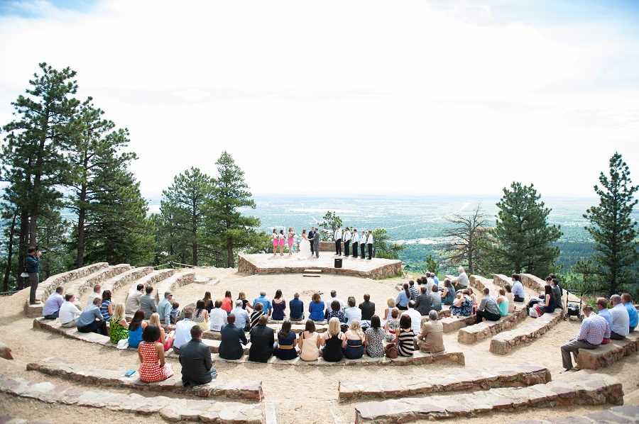 Chic Mountain Wedding At Sunrise Amphitheatre Boulder