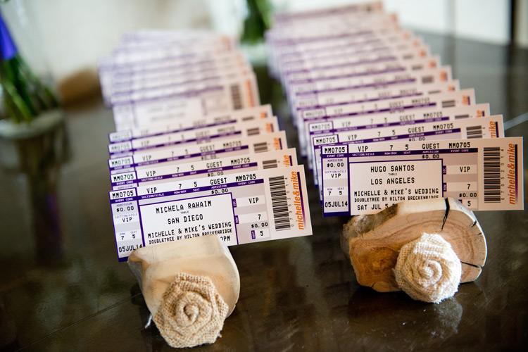 Concert ticket escort cards, Brinton Studios