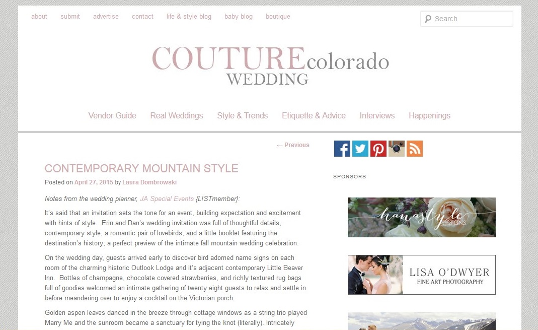 Couture Colorado Outlook Lodge