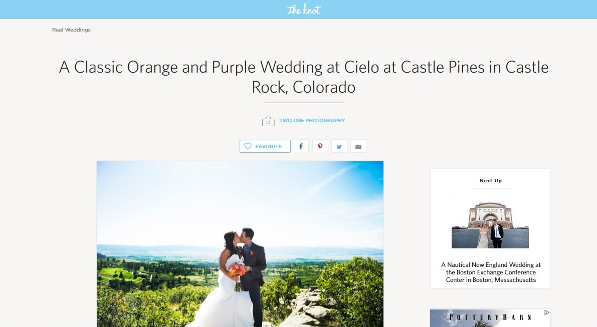 The Knot Cielo feature
