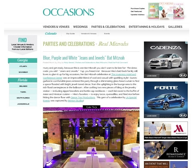 Occasions feature