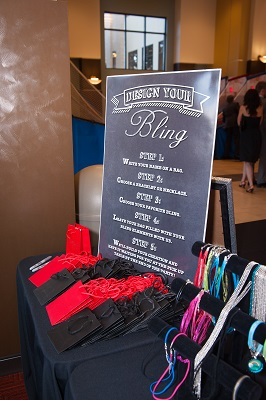 Bling station activity at bar mitzvah from Melissa Clarke Designs, Jared Wilson Photography