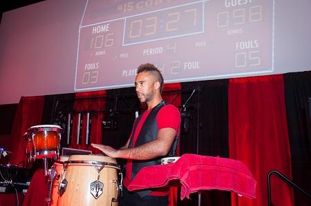 Drummer at Bar Mitzvah, Jared Wilson Photography